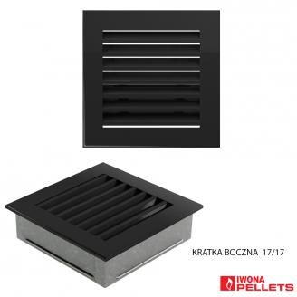 Built-in grid (square 170x170 anthracite with slats)