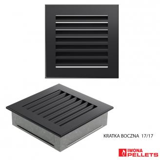 Built-in grid (large 170x170 anthracite square with slats)