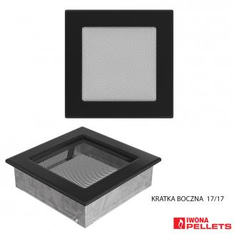 Air recirculation grille (170x170 model with anthracite frame interlocking, fine sieve cover)