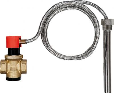 Cooling coil probe and valve