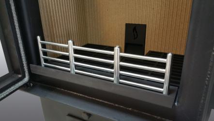 Protective grill for ALEXfireplace glass